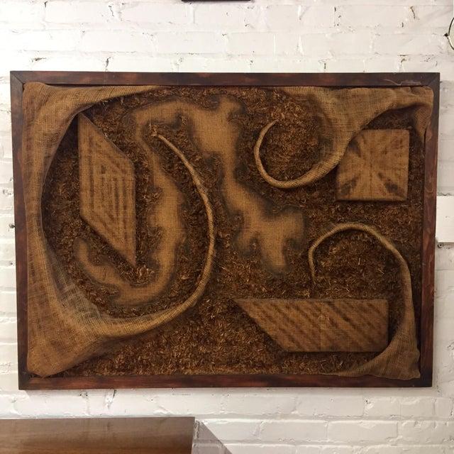 1970s Burlap Textile Art For Sale - Image 10 of 10