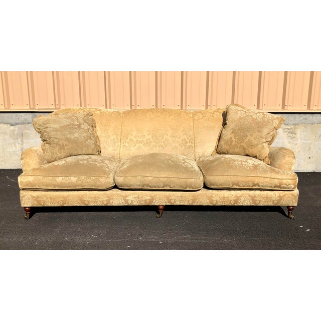 Yellow Modern Ralph Lauren Damask Wyman Sofa For Sale - Image 8 of 9