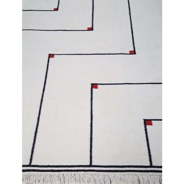 "VIBEKE KLINT ""VERTIGO"" FLAT-WEAVE CARPET, 1970S For Sale In Detroit - Image 6 of 8"