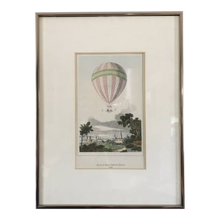 Reproduction Print of Antique Hot Air Ballooning For Sale