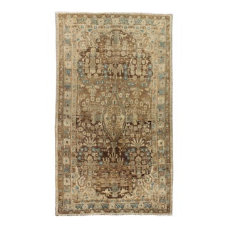 1940s Vintage Persian Mahal Rug - 4′6″ × 8′1″ For Sale