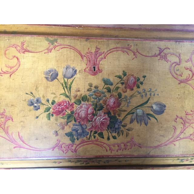 Late 19th Century Italian Painted Commode/ Slant Front Writing Desk For Sale - Image 10 of 13