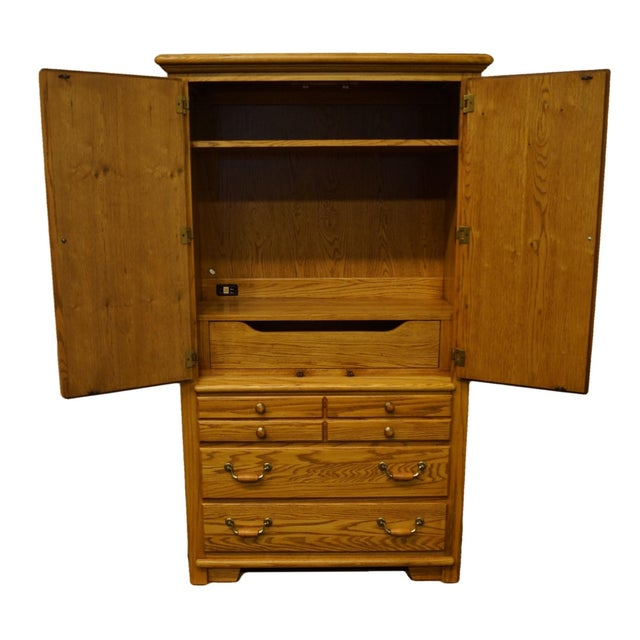 """American Thomasville Furniture American Country Collection 40"""" Armoire/Door Chest For Sale - Image 3 of 13"""