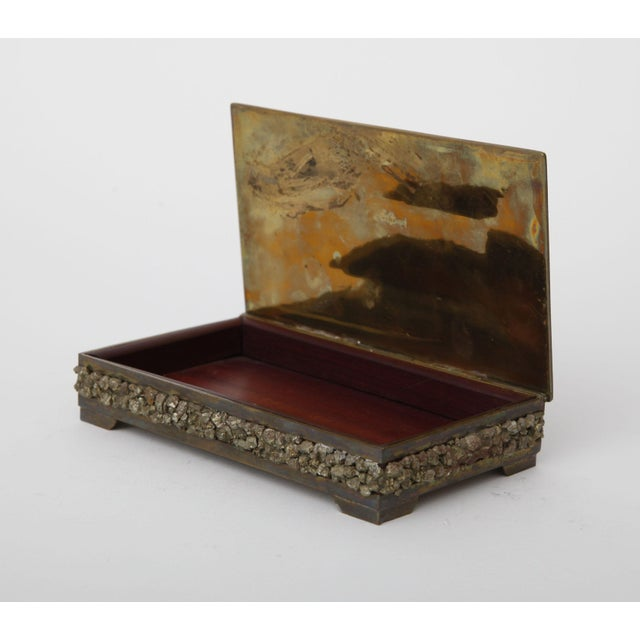 1960's Brass & Pyrite Box For Sale - Image 4 of 4