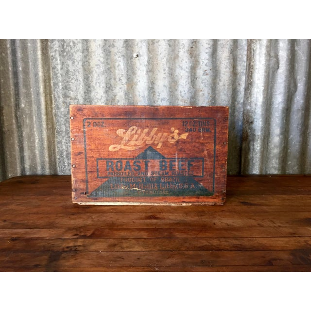 Vintage Libby's Roast Beef Wood Crate - Image 3 of 10