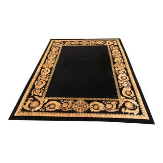 Nourison Signature Hand Knotted Black Wool Area Rug - 8′7″ × 11′8″