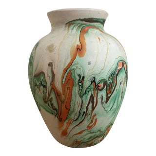 1960s Vintage Earthenware Native American Style Vase For Sale