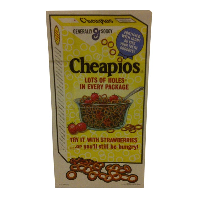 "Vintage ""Cheapios"" Cereal 1973 Poster For Sale"