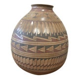 Image of Large Native American Ceramic Vessel Polychrome For Sale