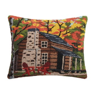 """Cabin in the Woods Hook Pillow, 16"""" x 20"""" For Sale"""