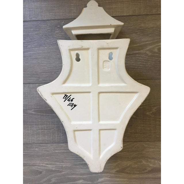 1970s Vintage Italian Ceramic Lavabo-3 Pieces For Sale In Tampa - Image 6 of 10