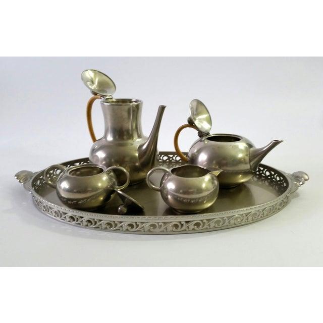 1960s Vintage Royal Holland Pewter Tea Serving Set For Sale - Image 11 of 11