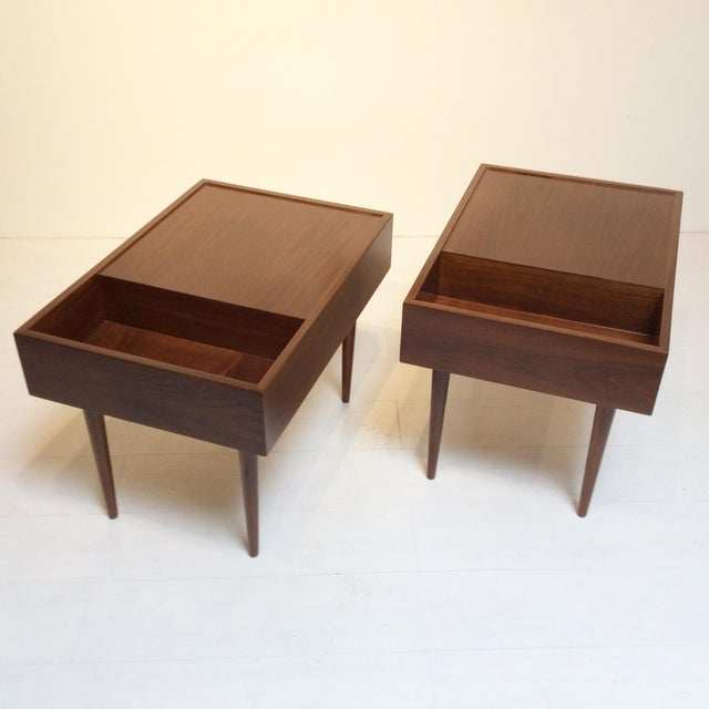 1950s Mid-Century Modern Milo Baughman for Glenn of California End Tables - a Pair For Sale In Los Angeles - Image 6 of 6