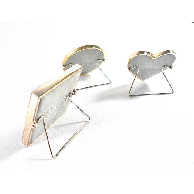 Gold Three Mini Diamond Photo Frames by Milano Series For Sale - Image 8 of 9