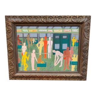 Mid-Century Oil Painting For Sale