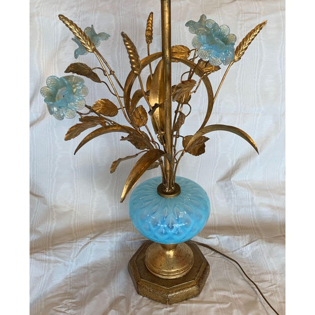 Mid 20th Century Mid 20th Century Murano Floral Bouquet Lamp For Sale - Image 5 of 11