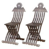 Image of Vintage Mother Of Pearl Inlaid Chairs - Set of 2 For Sale
