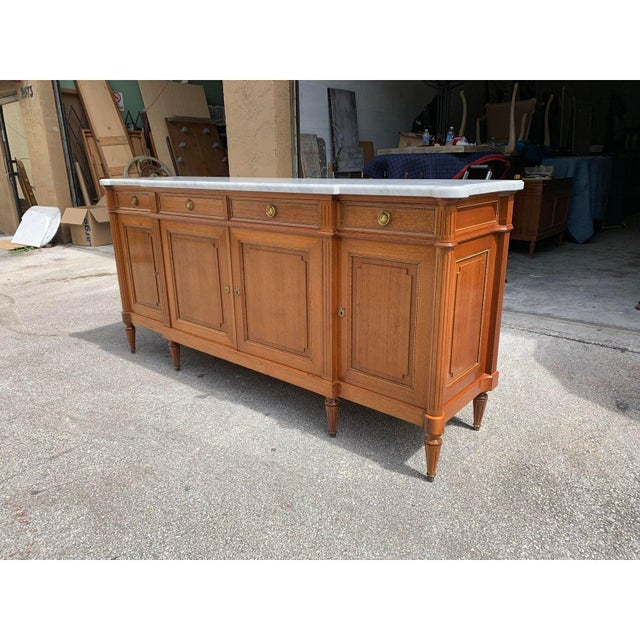 1910s 1910s French Louis XVI Antique Mahogany Sideboard or Buffet For Sale - Image 5 of 13