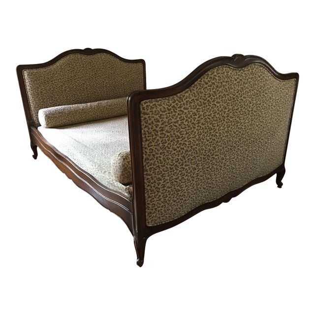 Superb Antique French Provincial Bed - Scalamandre Cheetah - Image 1 of 6