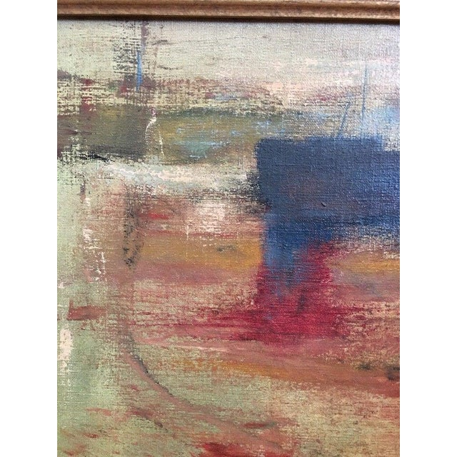 1975 Vintage Mid Century Abstract Expressionist Oil Painting, Signed Jesse Jacobs For Sale In New York - Image 6 of 11