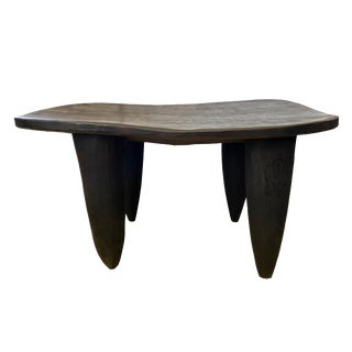 "Lg African Senufo Stool /Table 31"" W"" by 17"" H For Sale"