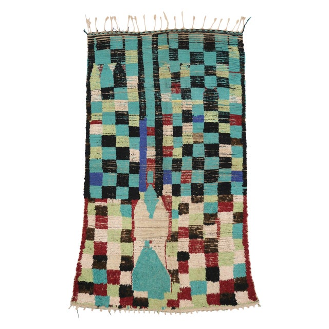 Boho Chic Vintage Berber Moroccan Rug with Modern Tribal Style, 04'05 x 07'06 - Image 7 of 9