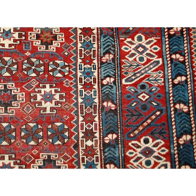 1880s Antique Caucasian Chichi Rug - 4′2″ × 5′6″ - Image 8 of 10