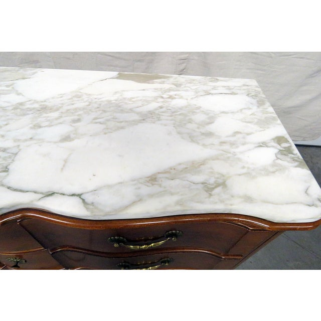 Bodart Furniture 20th Century Country Bodart Marble Top Dresser For Sale - Image 4 of 12