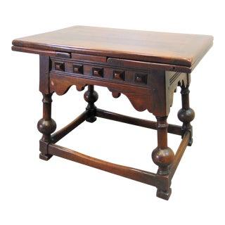 Kittinger Jacobean Walnut Refractory Coffee Table For Sale