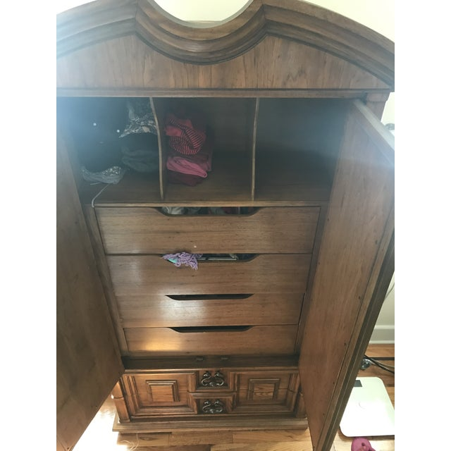 Vintage Thomasville Oak Armoire For Sale In New York - Image 6 of 8