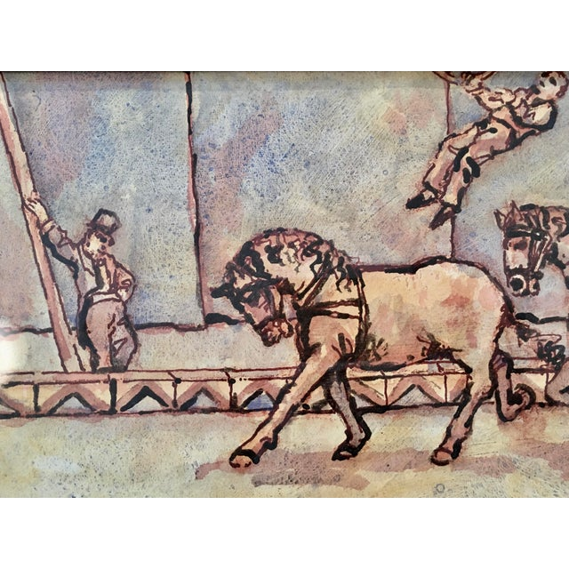 Another 'bare back trick riding' original from Arthur Smith's circus series. This paarticular piece is not signed however...
