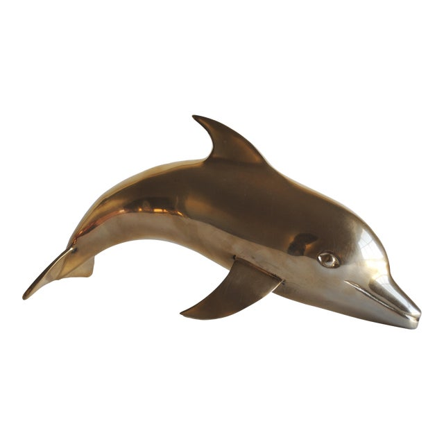 Large Vintage Brass Dolphin - Image 1 of 5