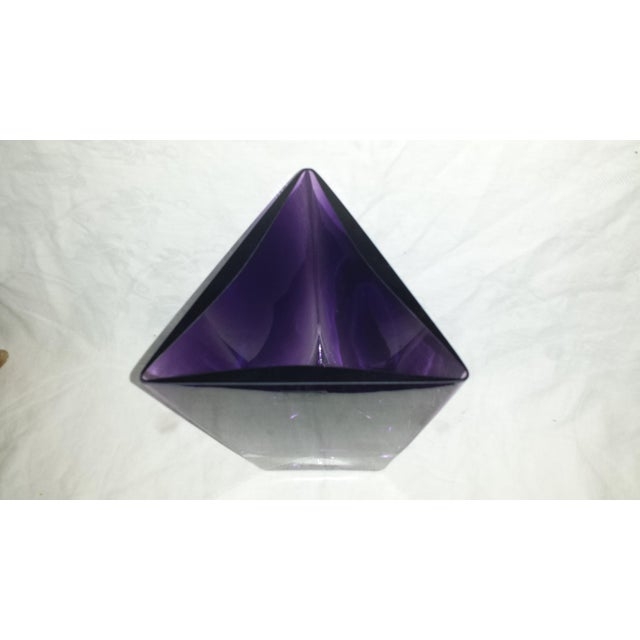 LSA Poland Art Glass Amethyst Purple Vase For Sale - Image 4 of 6