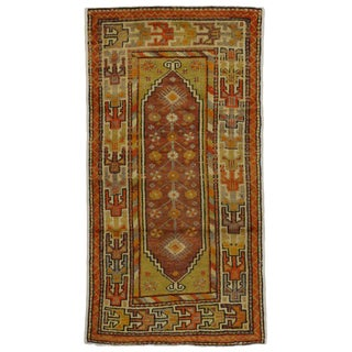 20th Century Turkish Oushak Accent Rug - 2′11″ × 5′6″ For Sale