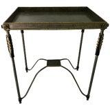 Image of Modern Metal and Gilt-Metal Table For Sale