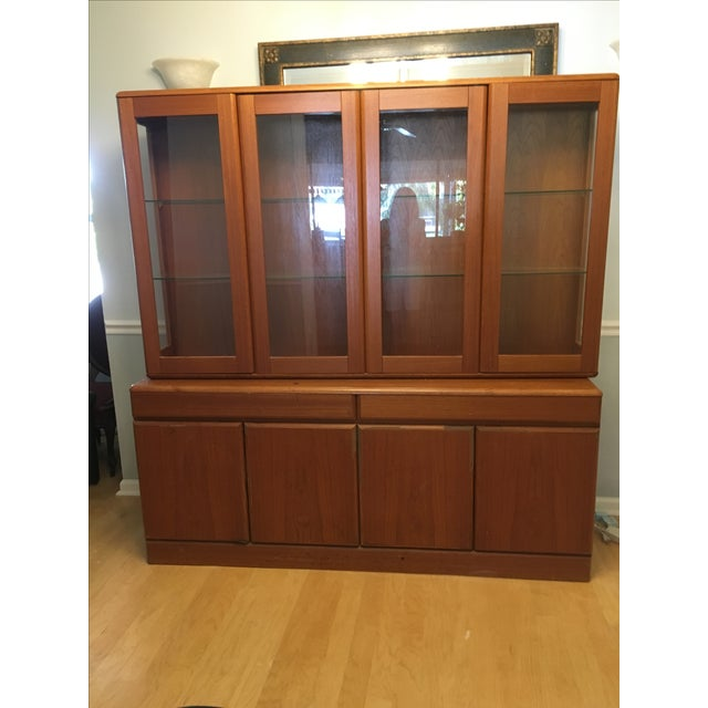 Danish Teak China Cabinet For Sale - Image 4 of 6