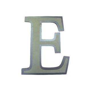 Vintage English Pub Sign Letter E