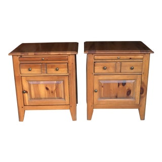 1980s Cottage House Pine Farmhouse Nightstands - a Pair For Sale