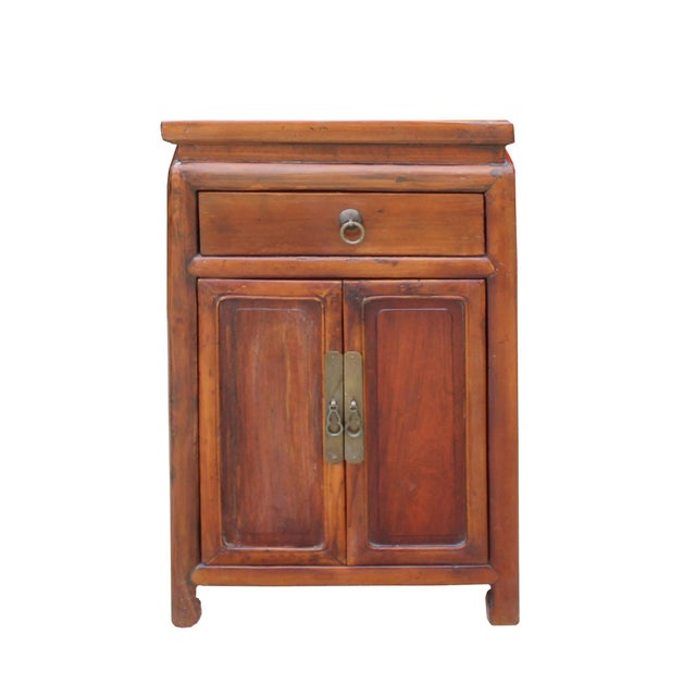 Brown Chinese Ming Style Republic China Brown Simple End Table Nightstand For Sale - Image 8 of 8