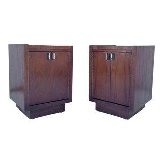 Pair Vintage Modern Nightstands For Sale