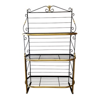 Late 19th Century French Iron and Brass Parisienne Boulangers Bread Rack For Sale