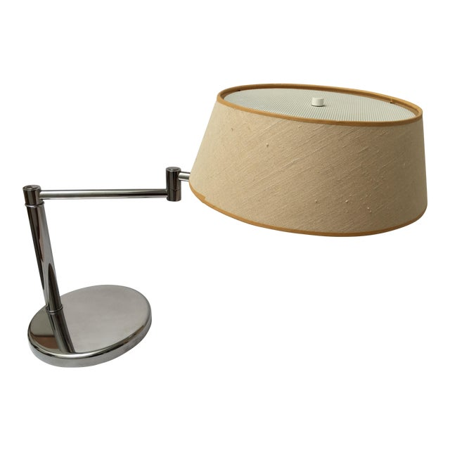 Van Nesson Chrome Mid-Century Swing Arm Desk Lamp For Sale