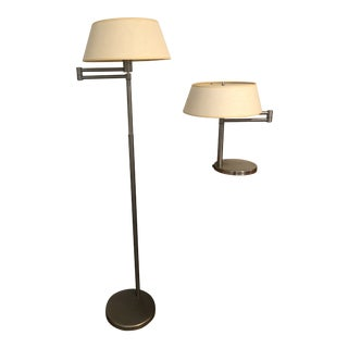 Nessen Swing Arm Lamps - A Pair For Sale