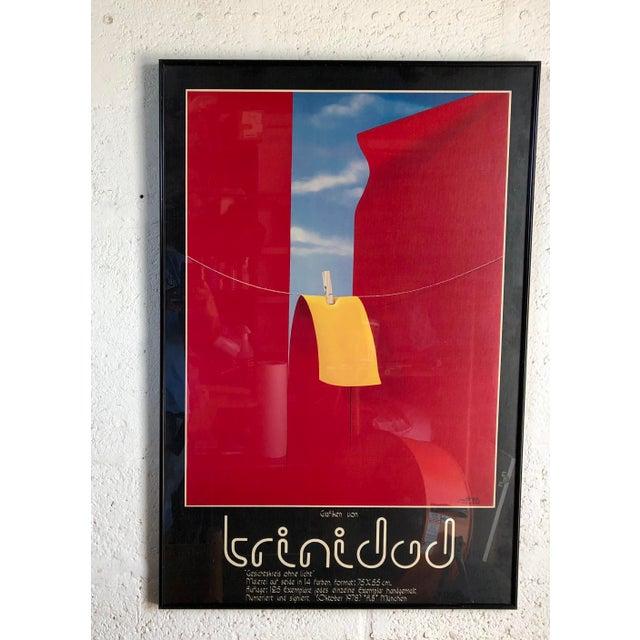 Vintage 1970s Framed German Art Exhibit Poster For Sale - Image 9 of 9