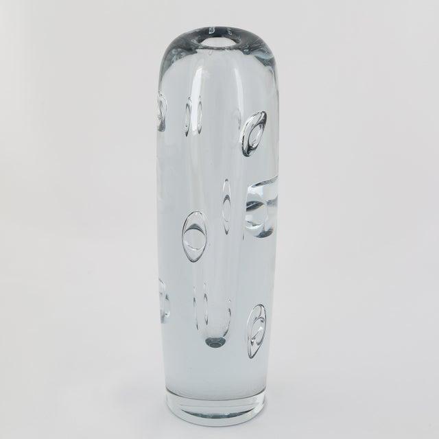 1950's VINTAGE STROMBERGSHYTTAN GLASS VASE For Sale In New York - Image 6 of 10