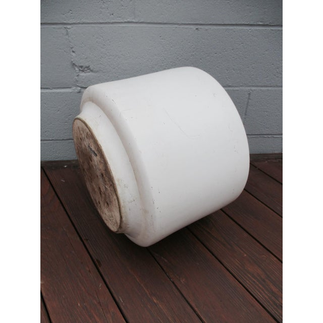Mid-Century Off-White Ceramic Planter Gainey Style Architectural Pottery For Sale - Image 5 of 11