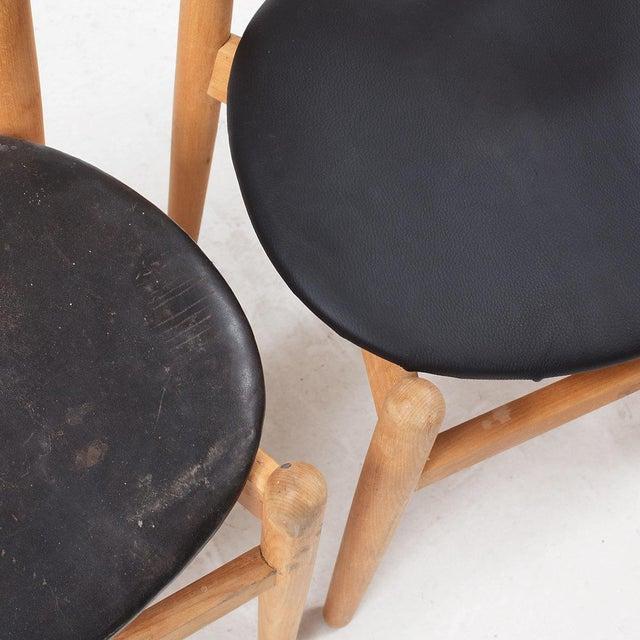 """1960s Hans J Wegner Dining Chair Model """"1934"""" for Fritz Hansen Set of Four For Sale - Image 5 of 6"""