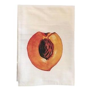 Watercolor Peach Tea Towel For Sale