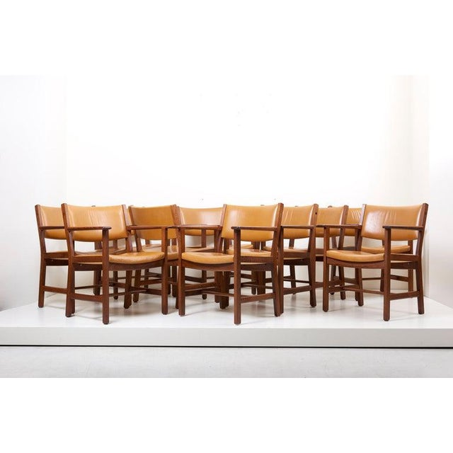 Set of Ten Ge 1960s Armchairs in Leather by Hans Wegner for by Getama, Denmark For Sale - Image 6 of 13