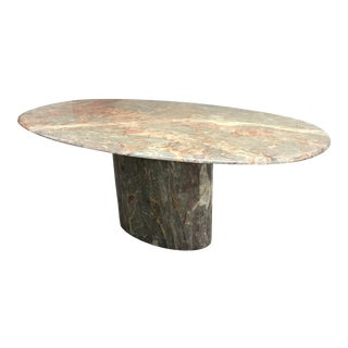 1970s Hollywood Regency Roche-Bobois Marble Dining Table For Sale